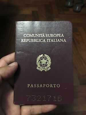 Italy Obsolete Passport W/many Revenues Stamps & Seals 1990