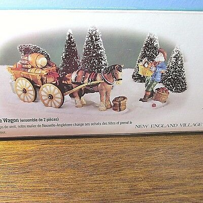 Dept 56 Heritage Village Collection NEW ENGLAND VILLAGE SERIES LOAD UP THE WAGON