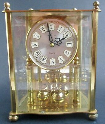 VTG AS IS HAMILTON Metal Glass Anniversary Carriage Clock W Germany W993 AS IS