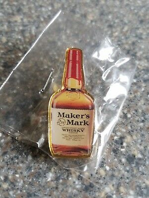 New Makers Mark Whisky Whiskey Alcohol Pinback Lapel Hat Pin