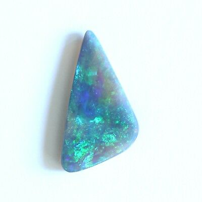 18x15x10MM 2.79CT LIGHTNING RIDGE SEMI BLACK CRYSTAL OPAL NATURAL SOLID STONE