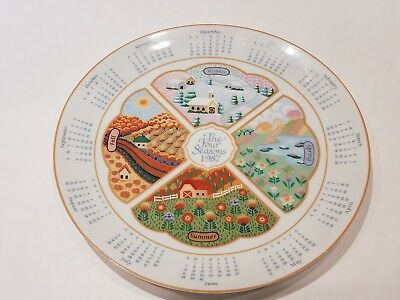 "Vintage Avon Collector Plate ""1987 The Four Seasons Calendar"" Fine Collectible"