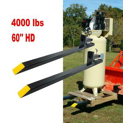 4000lbs Capacity Clamp On Pallet Forks HD Loader Bucket Skidsteer Tractor Chain