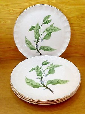 Lot Of 4 W.S. George Scalloped Luncheon Plate