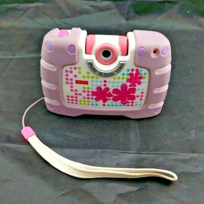 Fisher Price Digital 4X Zoom Photo/Video Camera Purple Kid Tough See Yourself