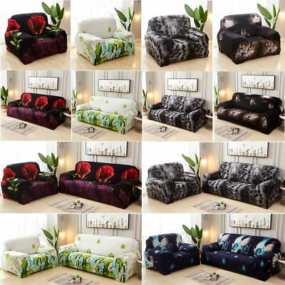 Elastic Slipcovers Stretch Sofa Chair 1 2 3 4 Seater Protector Couch Cover Case