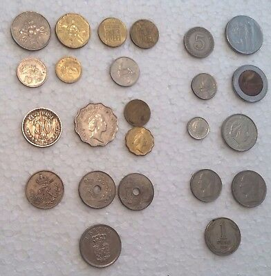Lot Of 24 World Coins From 11 Different Countries