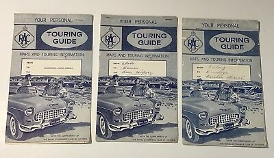 3 Vintage RACV Of Victoria Touring Guide Maps & Touring Info-Shell-Advertising