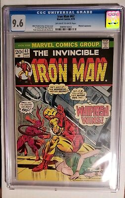 Iron Man #62 Cgc 9.6 (Off-White To White Pages) Whiplash Appearance (Very Nice)