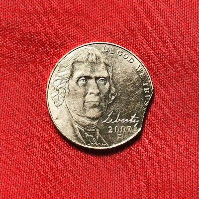 2007 P Jefferson Nickel Clipped Planchet MINT ERROR - Possible UNC FS Nice Coin