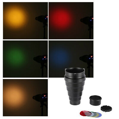 Honeycomb Strobe With Color Filter Aluminum Alloy Easy To Use Conical Snoot