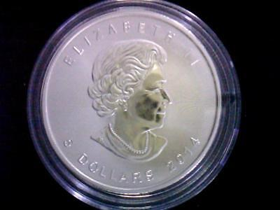 2014 1oz Canadian Maple Leaf $5 BU .9999 Fine Silver Coin