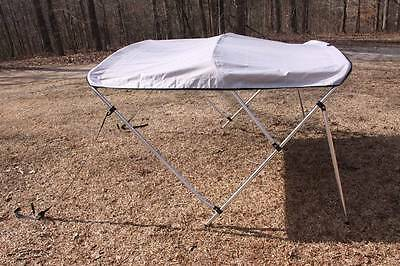 "NEW GREY/GRAY VORTEX 3 BOW BIMINI TOP 6' long / 67-72"" wide, 46"" TALL"
