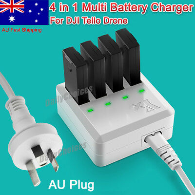 4 in 1 Battery Charger Hub Intelligent Fast Charging for DJI Tello Drone AU Plug
