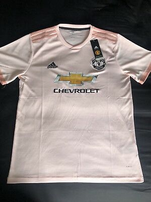 finest selection 7bef0 9a897 MANCHESTER UNITED PINK Away Shirt 2018/19 - Brand New With Tags. Size L