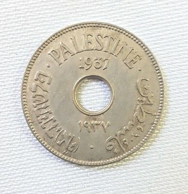 Palestine Uncirculated 10 Mils 1927  Rare In This High Grade