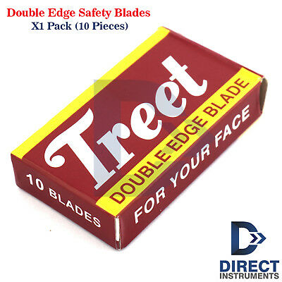 Double Edge Safety Razor Blades Pack-10PCS Shaving Hair Removal Stainless Steel