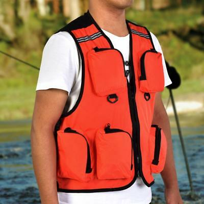 Outdoor Multiple Pocket Waistcoat Vest for Fishing Hiking Hunting Photography GD