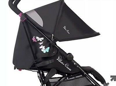 Silver Cross Pop Butterflies UV Hood Canopy, Fully Extendable And Ventilated