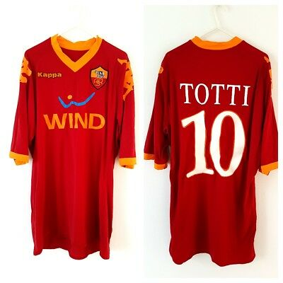 AS Roma Totti Home Shirt 2011. XXL. Kappa. Red Adults Football Top Only.