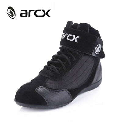 ARCX Street Motorcycle Adult Boots Ankle Protection Touring Shoes Plush Leather