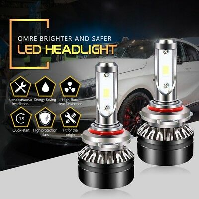 HB3 9005 LED Headlight Bulbs High Beam Cool White 6500K 6000LM SEOUL Chips
