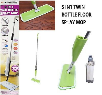 Spray Mop Water Spraying Floor Cleaner Tiles Microfibre Marble Kitchen 5 IN 1