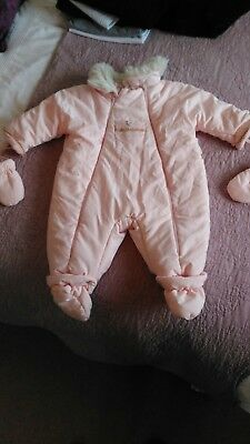 Baby Dior Winter All In One Snowsuit, 6 Months.
