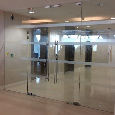 3.93 METRE WIDE TOUGHENED GLASS DOUBLE ENTRANCE DOOR SYSTEM FOR £399 inc VAT