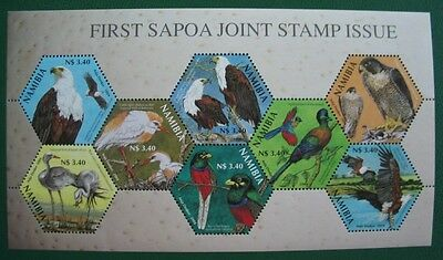 """NAMIBIA Block """"First Sapoa Joint Stamp Issue"""" postfrisch (Y177)"""