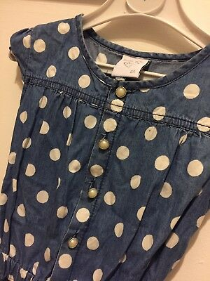 Denim Pokadot Girls Playsuit Age Size 4