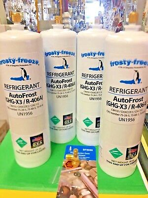 AutoFrost,R406a, Refrigerant, auto frost, GHG-X3, R406A,(4) 28 oz. Cans On/Off V