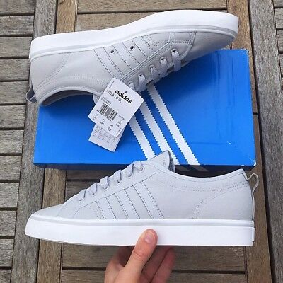Adidas Originals Nizza Lo Grey And White Size Uk 8 Brand New With