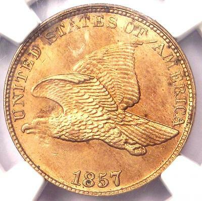 1857 Flying Eagle Cent 1C - NGC Uncirculated Details (UNC MS) - Rare Penny!