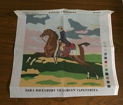 Sara Davenport Victorian Tapestries Printed Canvas Only Flying Childers H001