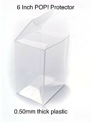 "1 Funko Pop! Vinyl 6"" Box Protector Acid Free 0.50mm Plastic POPS NOT INCLUDED"
