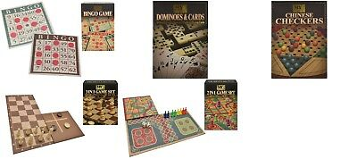 Traditional Full Size Board Game Classic Bingo Chinese Checkers Snakes & Ladders