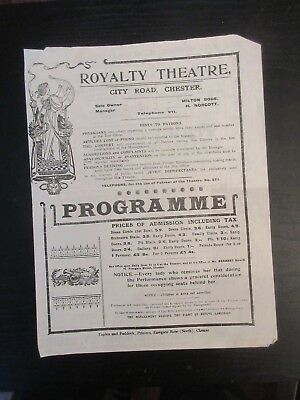 Royalty Theatre City road Chester programme D'Oyly Carte Opera Co Oct 1921
