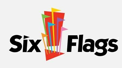 2 (TWO) Six Flags Single Day Tickets