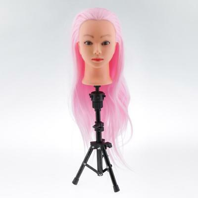 Tripod Mannequin Head Hairdressing Training Holder Adjustable Heavy Duty Stand