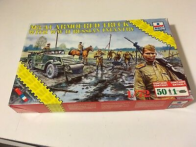 M3-A1Armoured Truck & WW2 Russian Infantry 1:72 Esci 8613 #1