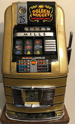 1940's 25¢ Mills Golden Nugget Hi Top Slot Machine $1750