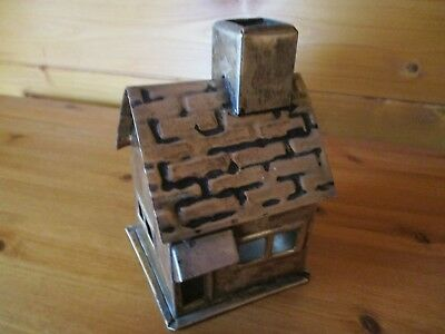 1920's silver plated  tin English  water mill house