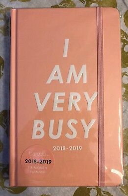 Ban.Do 13 Month Medium Daily Planner, 2018-2019 (I Am Very Busy)