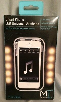 Mobile Tech Smart Phone LED Universal Armband w/ Touch Screen Responsive Window