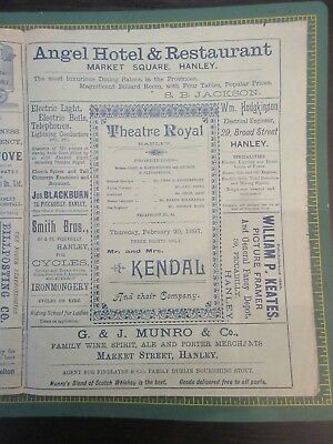 Theatre Royal Hanley programme Feb 26th 1897 Mr & Mrs Kendal and their Company