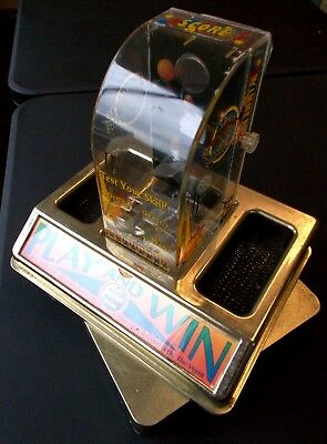 Vintage Moving Shoot to Thrill Tabletop Basketball coin flip vending arcade game