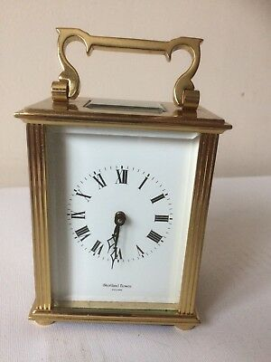 Excellent Shortland Bowen 8 Day Carriage Clock With Key Working Order