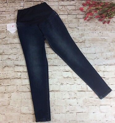 081128a2128c9 Isabel Maternity Jeans Jeggings 18 Dark Wash Crossover Panel Power Stretch