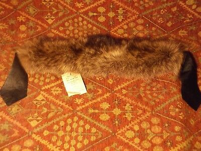 Beautiful vintage raccoon fur collar, NEW WITH ORIGINAL TAG